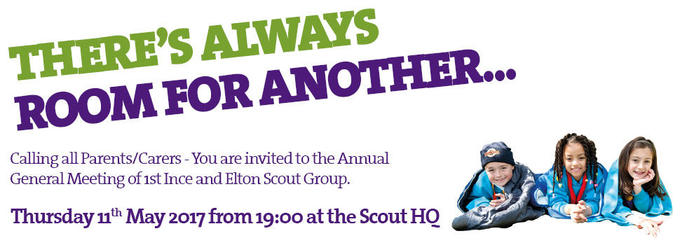 1st Ince and Elton Scout Group AGM 2017